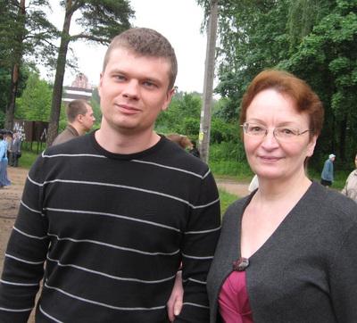 Наталья с сыном Антоном