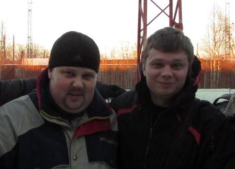 Антон с другом после центра