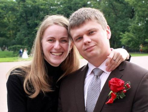 Антон с женой