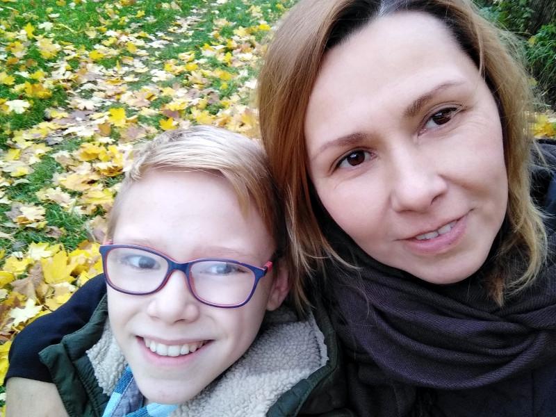 Юля с сыном