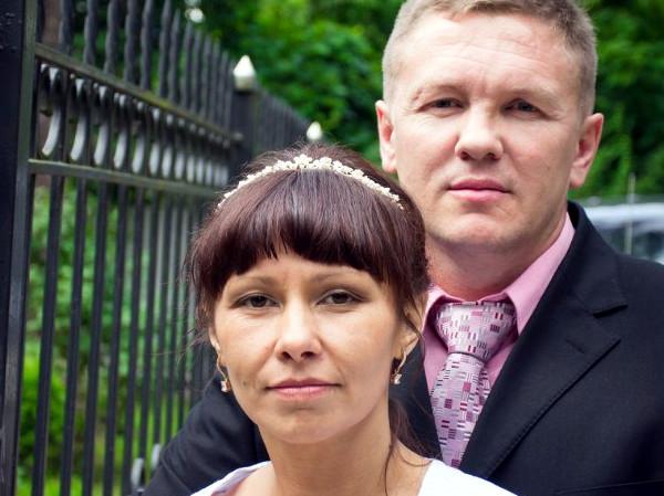 Юля с мужем Вячеславом